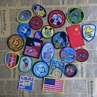 10pcs/lot Mix Navy Embroidered Sew-on patches for clothes jacket badge Custom Cartoon patch DIY Accessory