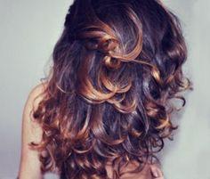 curly long hair. Love the highlights.