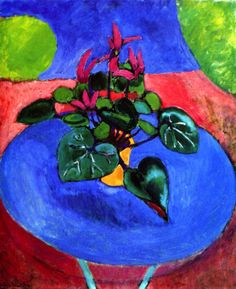 Purple Cyclamen Henri Matisse - circa 1912-1913