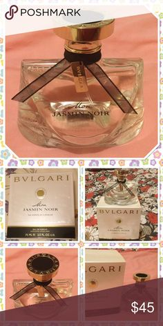 BVLGARI Mon Jasmin Noir perfume spray BVLGARI beautiful sense combination of lily-of-the-valley and citron that gives way to a heart of jasmine New in box never been used Bvlgari Accessories