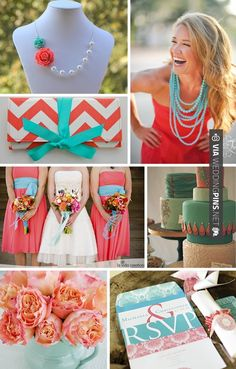 Fantastic - Coral and Turquoise Wedding Inspiration