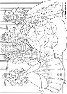 Dibujos para colorear de Barbie y las tres Mosqueteras