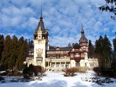 winter at the Peles Castle by timelesscolors on DeviantArt