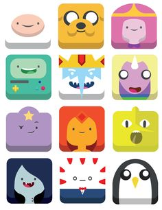 Adventure Time Icons by Nicholas Olsen