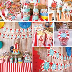 Backyard Carnival Party Decorations Set | Vintage Circus Decor