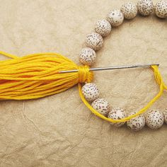 Tassel Beaded Bracelet Tutorial