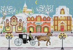 Winter Town  PDF Cross Stitch Pattern  INSTANT by LucyXStitches