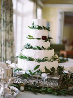 An olive branch accented cake: http://www.stylemepretty.com/2016/07/13/how-to-pull-off-a-tuscan-inspired-celebration-in-the-states/