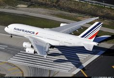 Few foments from touch-down at LAX for this Air France's A380.