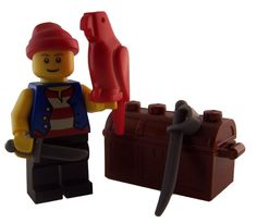 LEGO Pirate Minifig Red Parrot Cutlass Sword Treasure Chest Stocking Stuffer in Toys & Hobbies, Toys & Hobbies | eBay