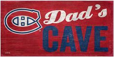NHL - Dad's Cave - Montreal Canadiens Wooden Sign Of Montreal, Montreal Canadiens, Sport, Wooden Signs, Nhl, Man Cave, Crafty, Kids, Wooden Plaques