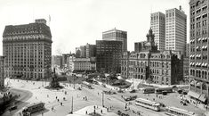 Downtown Detroit in 1915