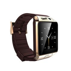 New GV08S Touch Screen Bluetooth Smart Watch Phone For Smartphones Gold+Brown TS #GV08S