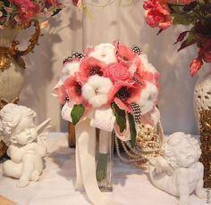 Букет невесты Маковое облако. Цветы из шелка