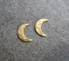 Crescent Moon Earring Studs    http://www.etsy.com/listing/163989349/crescent-moon-earring-studs-moon-post