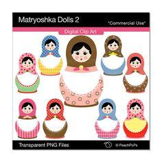 Matryoshka Dolls Clip Art