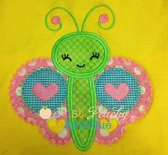 Whimsical Butterfly Applique Design - 852