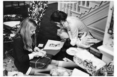 Caroline & Jackie Kennedy, Christmas 1970 (photo by Benno Graziani)