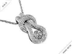 Women's Diamond Necklace in 14K White Gold (0.58 ctw)