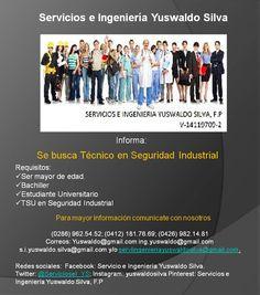 Estamos a la búsqueda de técnico de seguridad industrial para nuestra empresa. Comunicate con nosotros y forma parte de nuestro equipo!!! Te esperamos....