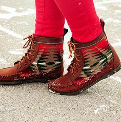 Tribal Print Boots.
