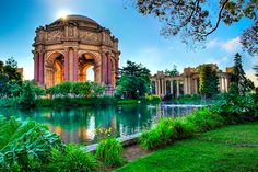 SF! The Palace of Fine Arts - form the 1920's Pan American World's Fair. This part of the City, aka The Marina was constructed to house this expo. It was part of the bay. They filled it in and created more land for the city. Great part of the city to live in except during earthquakes.