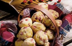 Cranberry Brunch Muffins - Cranberries were called 'bounceberries' in Grandma's day. The higher the bounce, the fresher the cranberry.