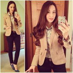 Easy Monday Outfit: #ootd #jcrew button down, #bananarepublic #corduroy blazer, #targetstyle #skinnies, #enzoangiolini #pumps #londonbluetopaz #jewelry and best of all #vintage red, white and blue #shield pin... #fallstyle #wiwt #fashion #fashionista #whatiwore #lookoftheday #instafashion #instastyle #igfashion #igstyle #mystyle #currentlywearing #instalook #hapa #followme #stylediaries