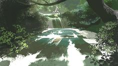 Artworks of Tangled's backgrounds - by Kevin Nelson