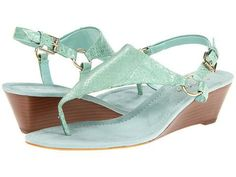 Women's Fashion Shoes: LAUREN Ralph Lauren Laurel Women's Wedge Shoes - Seafoam Green