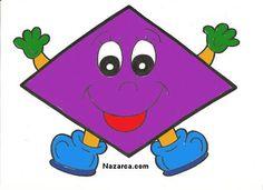 Dimond in purple Kids Math Worksheets, Preschool Printables, Preschool Math, Kindergarten Math, Maths, Montessori Activities, Craft Activities For Kids, Alphabet Letter Crafts, File Folder Activities
