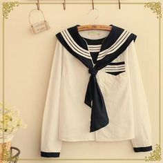 Buy Fairyland Long-Sleeved Sailor Blouse at YesStyle.co.uk! Quality products at remarkable prices. FREE SHIPPING to the United Kingdom on orders over £25.