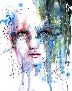 "Saatchi Online Artist Dreya Novak; Painting, ""La Pluie Tropicale"" #art"