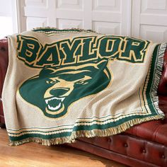 Baylor Bears afghan throw blanket