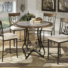 HOP STAND ROUND DINING ROOM CHAIR AND TABLE SET. #pasadenatx #southhouston #houstontx www.sta.cr/2ou51