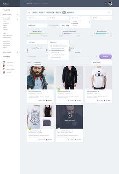 Product with filters Achoo by Balkan Brothers Web Dashboard, Ui Web, Dashboard Design, Card Ui, Ui Patterns, Filter Design, Ui Design Inspiration, Wordpress Theme Design, Application Design