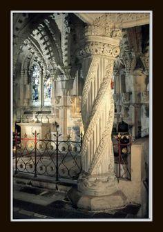 Spiraling Pillars - Rosslyn Chapel