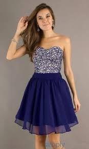 Resultado de imagen para vestidos cortos de fiesta 2014 juveniles color azul