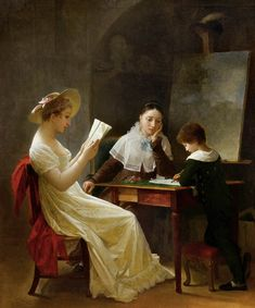 GÉRARD, Marguerite  A Young Sketcher  1821  Oil on canvas, 62 x 51 cm  Private collection