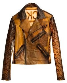 This is a jacket made out of tea sugar, vinegar, yeast and bacteria. Biocouture's 'eco-textile' production explores the potential for regulated and industrial textile manufacturing by means of bacterial cellulose grown in a solution of sweetened tea.