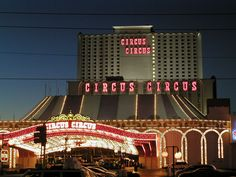 Circus Circus ... Brett and I stayed here 1 night during our Honeymoon Trip.  By far the most ... interesting place I have ever stayed at.  Other than the great price and that 1 great restaurant we ate at, don't really recommend it ... although Biff Skeezy will forever be in our memories!