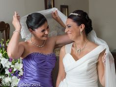 Antonella with Diandra, the maid of honour