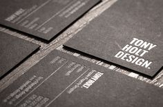 Tony Holt Design Business Cards – Berne Creative | Tom Berne design portfolio | Graphic Design