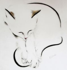 Kellas Campbell Cat Art
