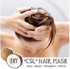 "DIY ""CSL"" Hair Mask.  Grow hair 2-3 inches!"