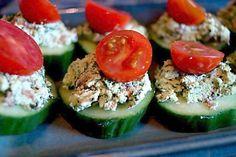 Flavoury Almond Pate on Juicy Cucumbers (Raw, Vegan) Paleo Salad Recipes, Pate Recipes, Raw Vegan Recipes, Vegan Dinner Recipes, Whole Food Recipes, Healthy Recipes, Paleo Fast Food, Raw Food Diet, Raw Vegan Dinners