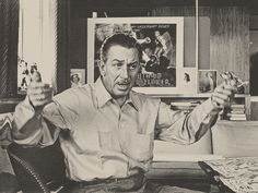 Photographic Print: Walt Disney Speaking in His Office of His Burbank Back-Lot Studios, Burbank, California, 1953 by Alfred Eisenstaedt : Disney Love, Disney Magic, Disney Stuff, Walt Disney World, Disney Pixar, Disney Icons, Walter Elias Disney, Vintage Disneyland, Disney Coloring Pages