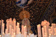 Fotografía de Estefanía Baeza Galindo. Dolorosa de Santiago Jueves Santo -Ciudad Real-. Realizada con cámara