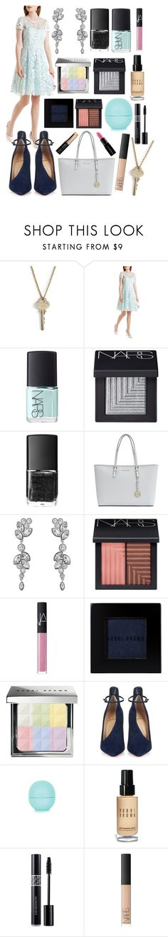 """""""Blue sky! #91"""" by worldofflowers ❤ liked on Polyvore featuring The Giving Keys, Ted Baker, NARS Cosmetics, MICHAEL Michael Kors, Swarovski, Bobbi Brown Cosmetics, Christian Louboutin, Topshop, Christian Dior and Smashbox"""