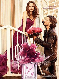 Leighton Meester's Vera Wang Lovestruck Fragrance ad.